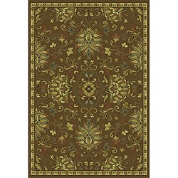 Green/Beige Traditional Area Rug (6'7 x 9'6) - Thumbnail 0