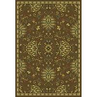 Green/Beige Traditional Area Rug - 6'7 x 9'6