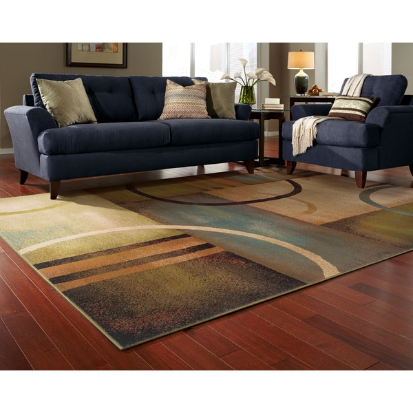 Oliver & James Arauz Beige Abstract Area Rug - 6'7 x 9'6