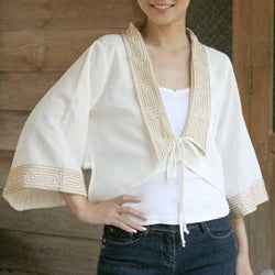 Handmade Women's Cotton 'Thai Sophistication' Blouse (Thailand)