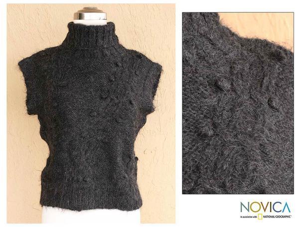 Women's Alpaca Wool 'Winter Mist' Sleeveless Sweater (Peru)