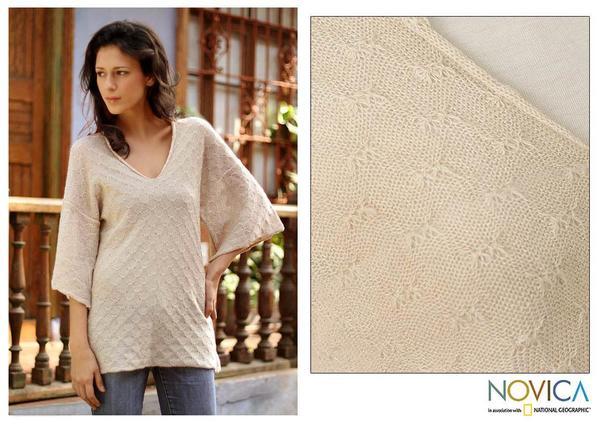 Alpaca Wool 'Royal Grace' Sweater (Peru)