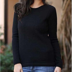 Women's Alpaca Wool 'Ebony Charm' Sweater (Peru)
