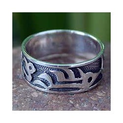 Sterling Silver 'Forest Shadow' Band (Thailand)
