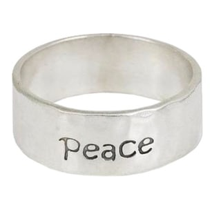 Handmade Sterling Silver 'Spirit of Peace' Band (Thailand)