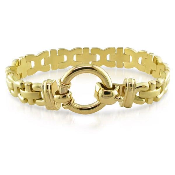 Miadora 14k Yellow Gold 7-inch Fancy Link Toggle Bracelet