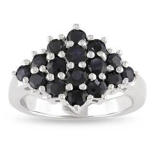 Miadora Sterling Silver Sapphire Fashion Ring