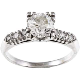 Pre-owned Platinum 1 1/3ct TDW Vintage Engagement Ring (I-J, VS1-VS2)|https://ak1.ostkcdn.com/images/products/6219969/P13864554.jpg?impolicy=medium