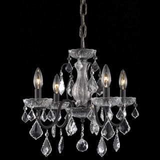 Somette Crystal 4-light Dark Bronze Chandelier