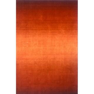 Manhattan Ombre Orange Hand-Loomed Wool Rug (9'6 x 13'6)