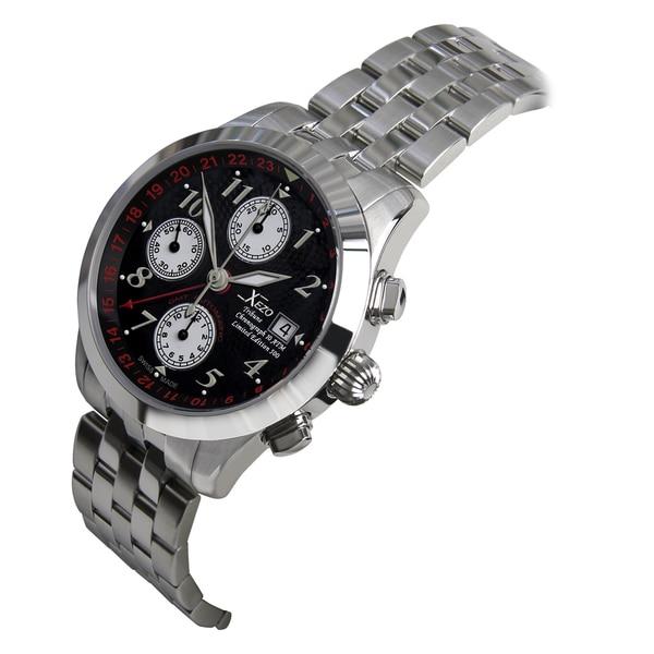 Xezo Men's Swiss Automatic GMT Valjoux Chronograph Watch