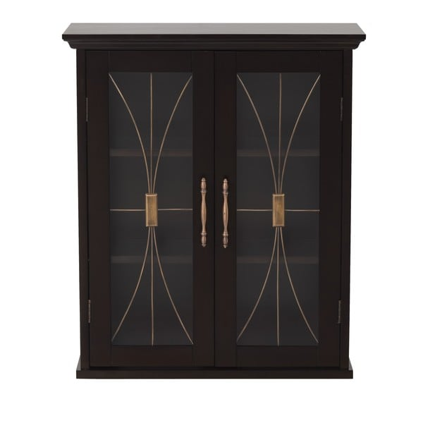 Veranda Bay Dark Espresso Wall Cabinet by Elegant Home Fashions