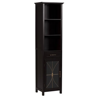 Veranda Bay Dark Espresso Linen Tower by Elegant Home Fashions