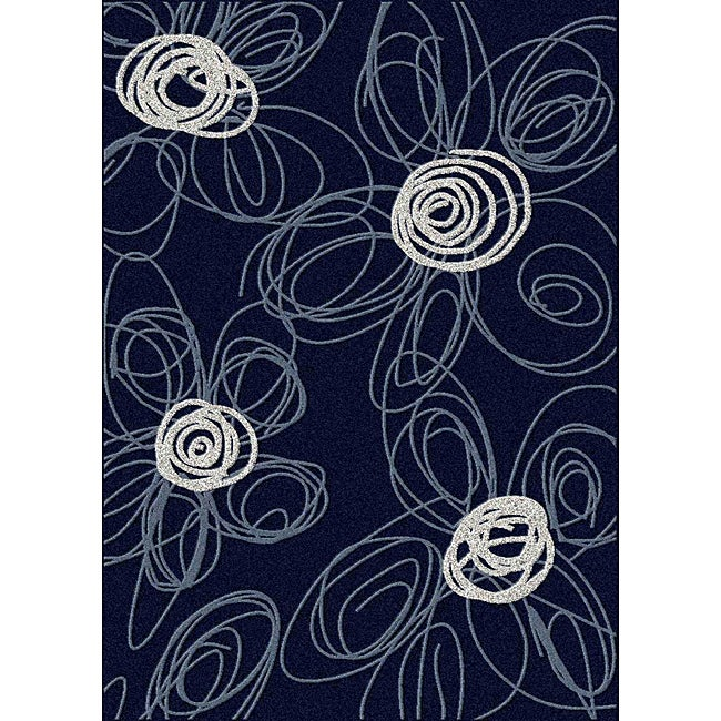 Admire Home Living Brilliance Flower Area Rug (7'9 x 11)