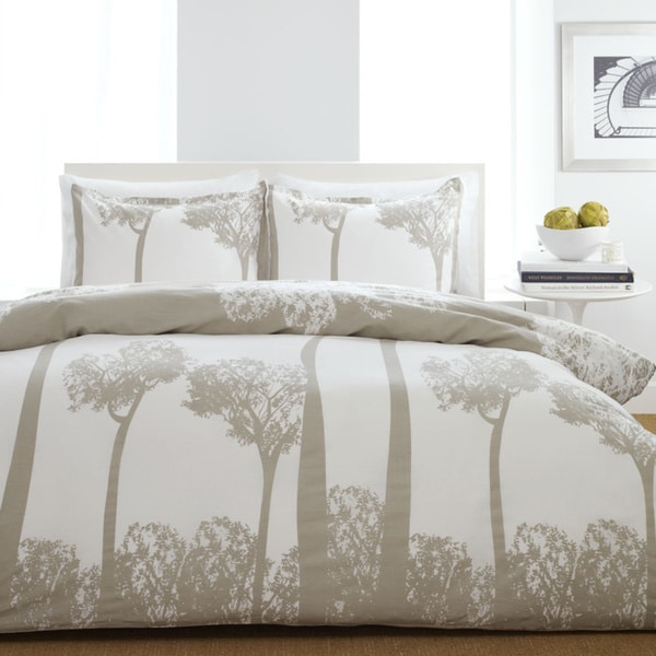 City Scene Tree Top 2-piece Twin-size Duvet Cover Set