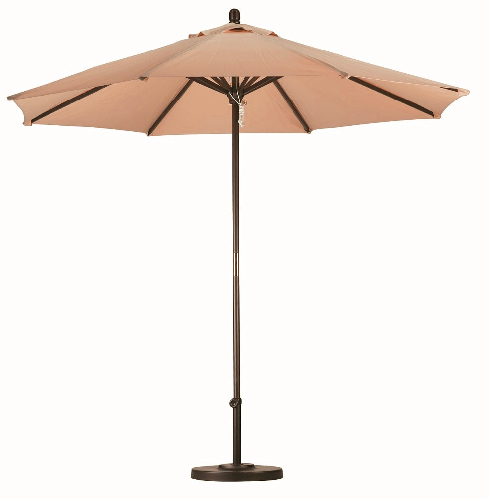 Lauren U0026amp; Company Premium 9 Foot Antique Beige Patio Umbrella With Base