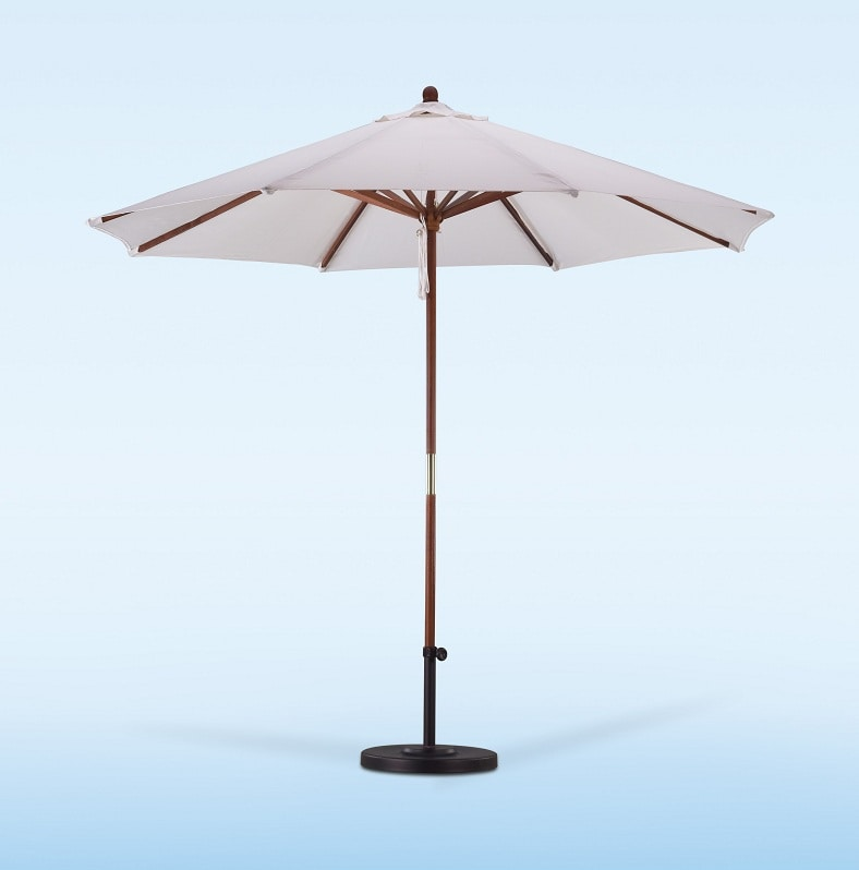 Lauren & Company Premium 9-foot Natural White Patio Umbrella with Base