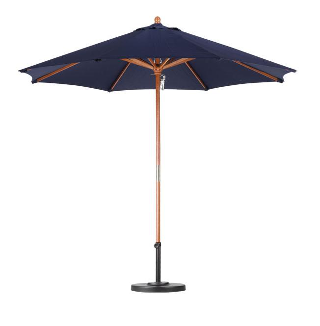 Lauren & Company Premium 9-foot Navy Blue Patio Umbrella with Base