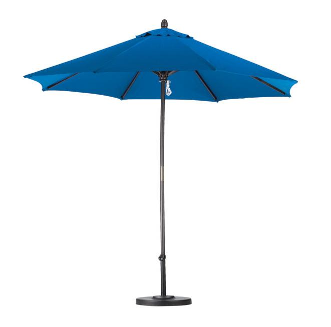 Lauren & Company Premium 9-foot Pacific Blue Patio Umbrella with Base - Thumbnail 0