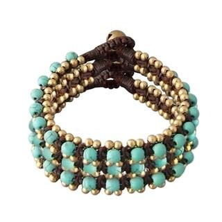 Handmade Brass Bead Link Bracelets (Thailand)