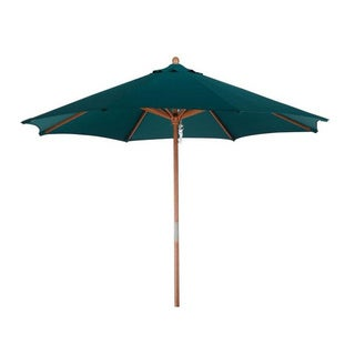 Lauren & Company Premium 9-foot Round Hunter Green Wood Patio Umbrella