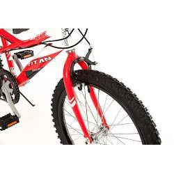 Titan Blaze Red/ White 20-inch BMX Bicycle - Thumbnail 2