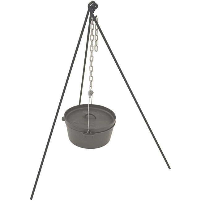Bayou Classic Tripod Stand with Chain and Totebag