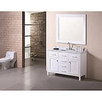 Design Element London Modern Bathroom Vanity Set with Marble Top