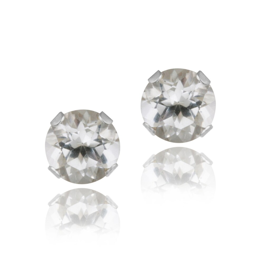 glitzy rocks silver on earrings tgw sterling shipping product watches orders white jewelry topaz stud free overstock over