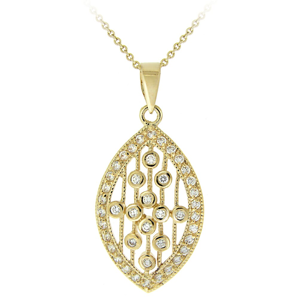 Icz Stonez 14k Yellow Goldplated Cubic Zirconia Raindrop Necklace