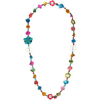 Handmade other of Pearl Multicolor Floral Necklace (Thailand)