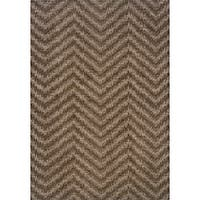 "Hayworth Brown/Gray Transitional Area Rug (3'10 x 5'5) - 3'10"" x 5'5"""