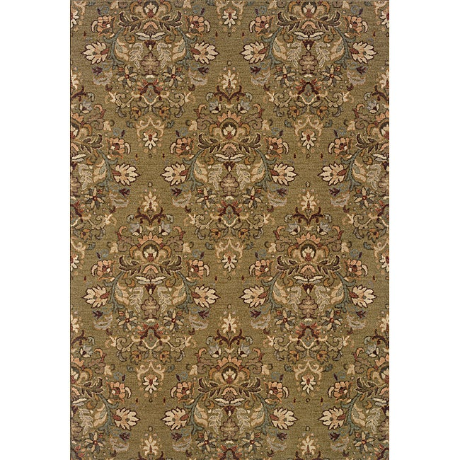 Romana Green/Beige Traditional Area Rug (3'10 x 5'5)