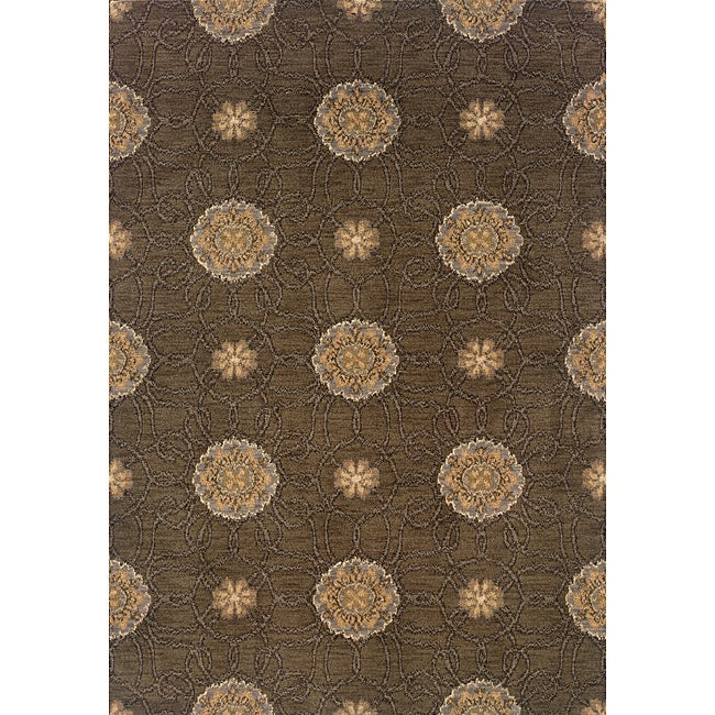 Hayworth Brown/Gold Transitional Area Rug (5'3 x 7'6)