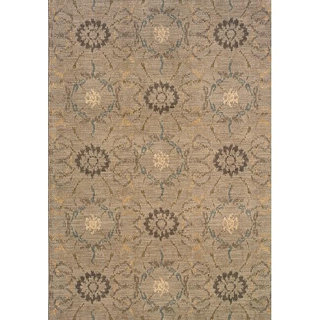 Hayworth Grey/Brown Transitional Area Rug (5'3 x 7'6)