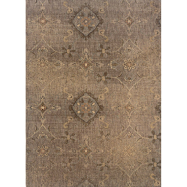 Hayworth Grey Brown Area Rug 5 3 X 7 6 Free Shipping