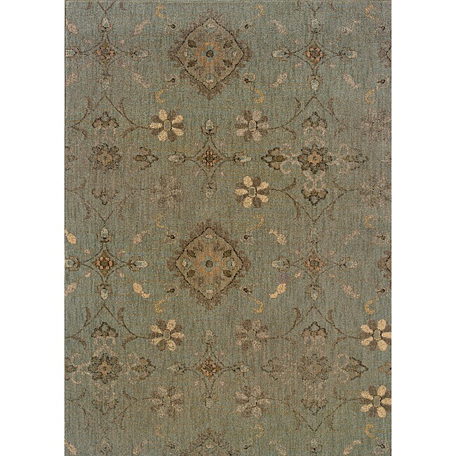 Hayworth Blue/Grey Area Rug (5'3 x 7'6)