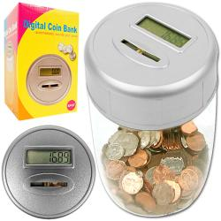 Ultimate Automatic Plastic Digital Coin Counting Bank with LED Display - Thumbnail 0