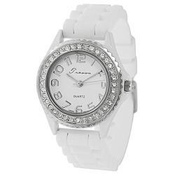 Tresor Women's Rhinestone-accented Silicone Watch