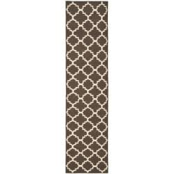 Safavieh Hand-woven Moroccan Reversible Dhurrie Brown/ Ivory Wool Rug (2'6 x 12')