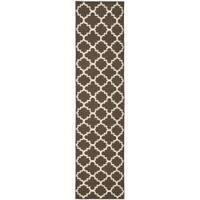 "Safavieh Hand-woven Moroccan Reversible Dhurrie Brown/ Ivory Wool Rug - 2'6"" x 12'"