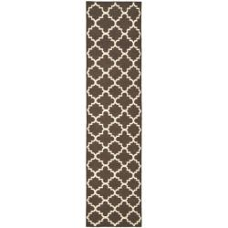 Safavieh Hand-woven Moroccan Reversible Dhurrie Brown/ Ivory Wool Rug (2'6 x 10')