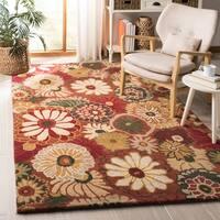 Safavieh Handmade Jardine Summer Rust Wool Rug - 5' x 8'