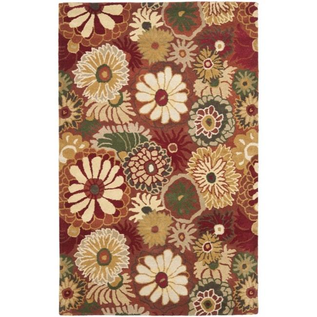 Transocean Dog Rug: Safavieh Handmade Jardine Summer Rust Wool Rug (8' X 10
