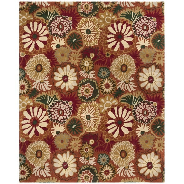 Transocean Dog Rug: Shop Safavieh Handmade Jardine Summer Rust Wool Rug