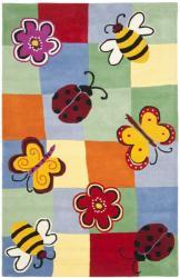 Safavieh Handmade Children's Garden Friends New Zealand Wool Rug (5' x 8')
