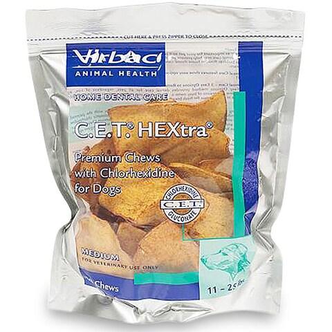 C.E.T. Medium Dog HEXtra Chews (30 Count)