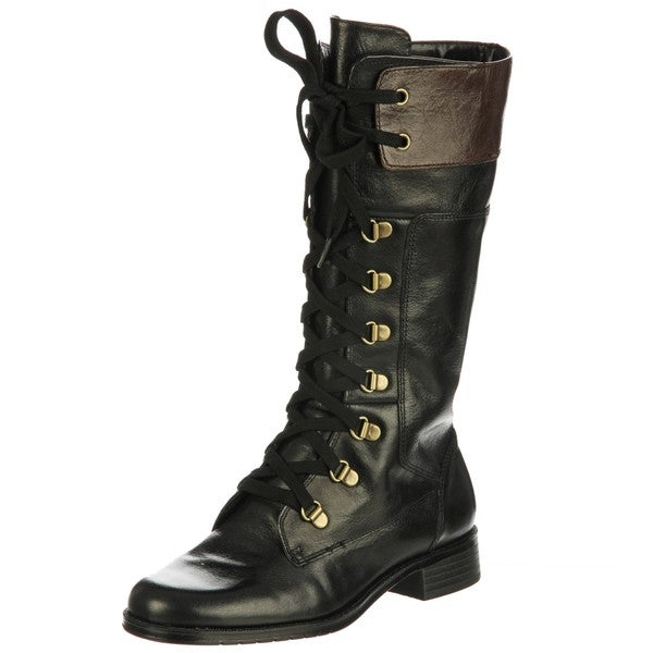 27a7c3d8b8289 Shop Aerosoles Women's 'Joyride' Black Lace-up Boots FINAL SALE ...