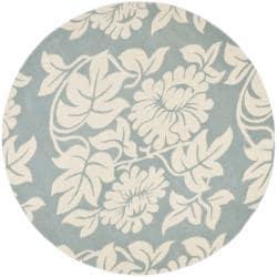 Safavieh Handmade New Zealand Wool Bliss Blue Rug (6' Round)