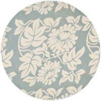 Safavieh Handmade New Zealand Wool Bliss Blue Rug - 6' x 6' Round